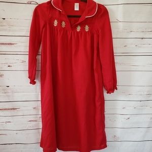 Gymboree red gingerbread Christmas nightgown gown